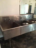 Stainless Steel Three Compartment Sink