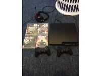 PS3 with 2 controller,games