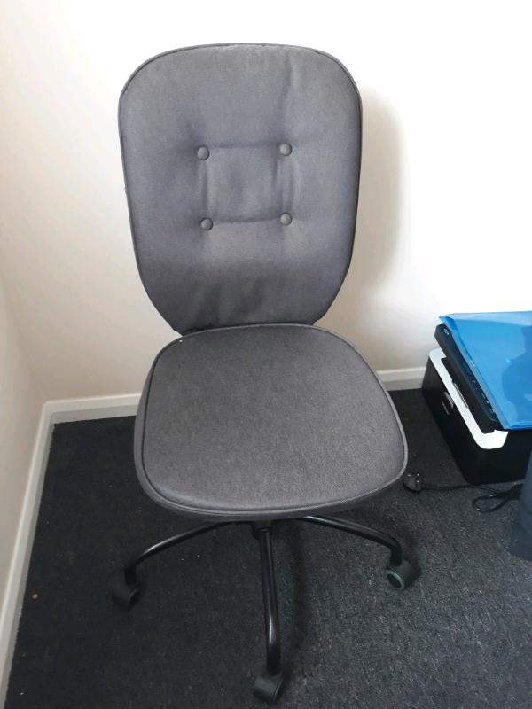 Terrific Grey Ikea Desk Chair Lillhojden In Northampton Northamptonshire Gumtree Andrewgaddart Wooden Chair Designs For Living Room Andrewgaddartcom