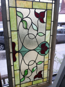 Vitrail stained glass fenetre plomb antique