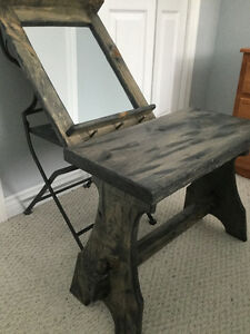Rustic Bench with matching Mirror