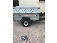 Erde 142 galvanised trailer and cover