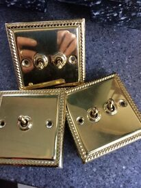 Brass light switches x3
