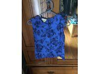 Hobbs blue blouse 6