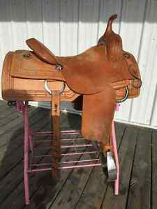 DON RICH CUSTOM SADDLES LIGHT WEIGHT RANCH CUTTING SADDLE