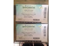 2 x Mumford & Sons tickets for BST festival