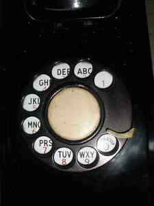 Vintage NORTHERN ELECTRIC Black Wall Phone London Ontario image 4