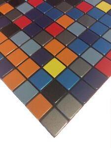 Aluminium Mosaic Tiles/Cheerful Colours (Pack of 10)-Special Off