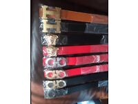 Ferragamo, Versace and Hermes belts for sale!