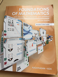 Foundations of Mathematics 2nd Ed. Textbook For Sale