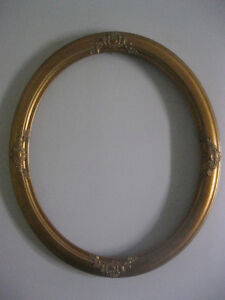 Vintage Oval Picture Frame 16x20 / Cadre Oval pour Artist 16x20