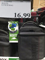 Lost dark gray Roots lunch bag