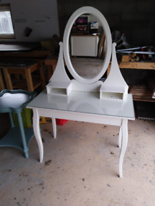 Ikea Vanity Set Dressing Table with mirror - white