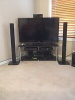 """Tv Samsung 46"""" 1080 HD 120Ghz with home theatre .."""