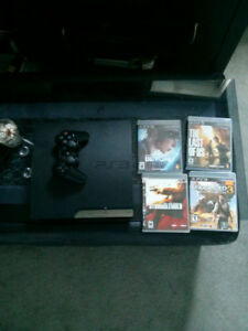 PlayStation 3 4 games 1 controller