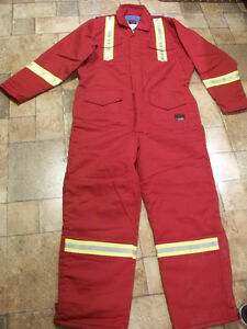 Dark red FR fire resistant heavy quilt Actionwear coverall 2xlt