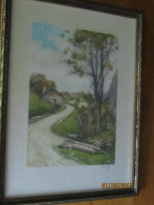 Two Antique Framed watercolors