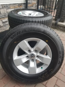 2018 Dodge OEM alloy wheels and tire set. Brand New