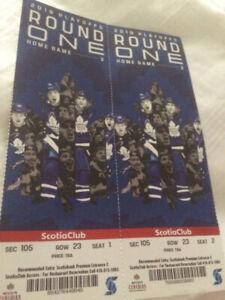 Toronto Maple Leafs VS. Boston Bruins Game 6 SCOTIA CLUB X2