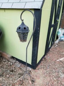 Outdoor lantern and 2 solar lights