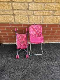 Child's play high chair and stroller