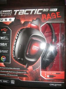 Creative Tactic3D Rage Wireless v2.0 Gaming Headset. PS4. NEW