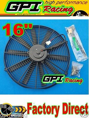 "1x 16"" inch Universal Electric Radiator RACING COOLING Fan +mounting kit new GPI"