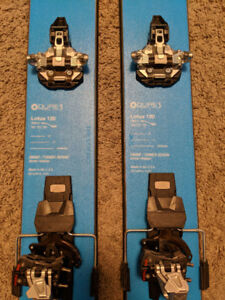 DPS Lotus 120 Skis with Dynafit FT12 Bindings and Skins