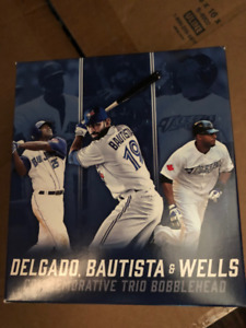 e02123bbb Delgado Bautista Wells Toronto Blue Jays Bobblehead New in Box