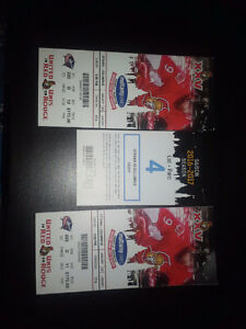 Sens tickets Jan.22 5.00 pm
