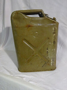 Vintage US Military 5 Gallon Jerry ( Fuel ) Can
