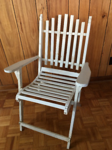 Antique Folding Lawn Chair Circa 1920