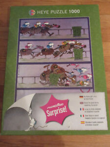 Heye 1000 pieces Puzzle - horses steeplechasing....