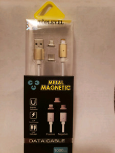 in 1 Magnet Carging Cable for all iPhone Samsung LGother phones