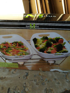 Ceramic serving dishes with warmers  - BRAND NEW Kitchener / Waterloo Kitchener Area image 1