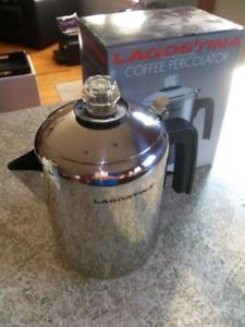 Like New Lagostina  8 Cup Stovetop Coffee Percolator