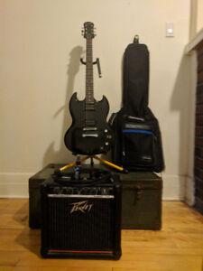 ELECTRIC GUITAR KIT FOR SALE! (Guitar+Amp+more!)