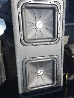"""2 x 12"""" kickers for sale. 275 obo."""
