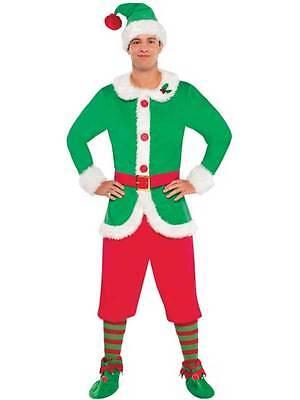 North Pole Elf Guy Fancy Dress Costume Adult Mens Christmas Xmas Santa Helper (North Pole Elf Kostüm)