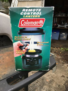 coleman lantern with remote controll new.