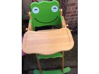 Pin toy wooden Frog high hair