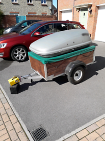 Camping Trailer with Roof Box (attached)