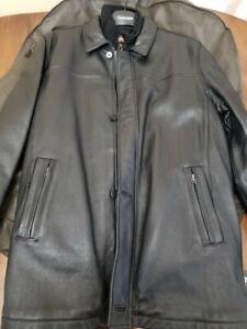 Danier Leather Coat + 3M Liner XL/TG Manteau Cuir + Interieur 3M