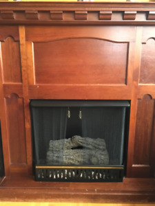 Classic Real Wood Gel-Fuel Fireplace