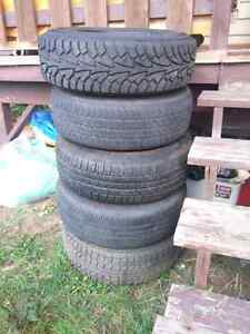 5 tires on rims balanced and good to go