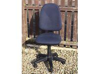 Dark Blue Cloth Operators / Office / Swivel Chair