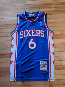 New Julius Erving Dr J Philadelphia Sixers 76ers Jersey Small S