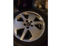"Full set of 5 stud 17"" alloys with brand new tyres PCD: 5 x 110 fit vauxhall, saab"