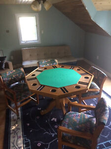 Card table and small round kitchen table