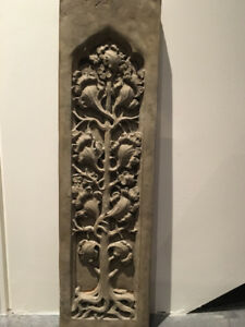 Solid concrete Tree of Life wall plaques